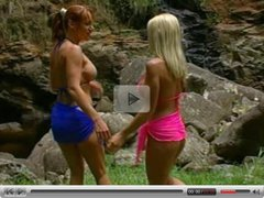 Allysin Chains and redhead in lesbian paradise