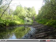 Nude in Public - Long woodland walk