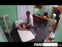 Fake Hospital - Young mum takes anal