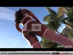 Brazzers - Sexy ebony pornstar Nyomi Banxxx tries anal sex