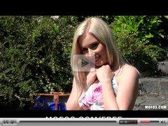 Mofos - Sexy blonde GF Nesty strips down & fucks in public