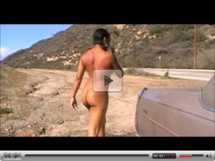 Black woman butt naked in public