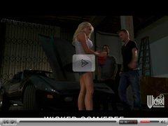 Wicked - Big-tit blonde MILF Stormy Daniels fucks on her car