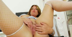 Fat ugly and old Bohunka finds hospital a great place for masturbation