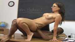 Sexy Italian milf teacher Maria Bellucci fucks her student