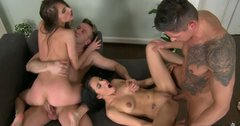 Tina Blade and her horny friends have a swingers party