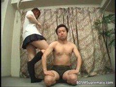 Sweet Asian schoolgirl got her wet pussy
