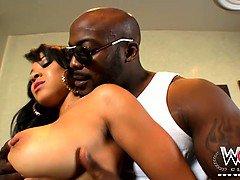 Alluring ebony jewel Jaden seduced by black thug