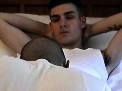 Seduced straight boy sucked by gay dude