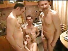 Horny shower jerk off