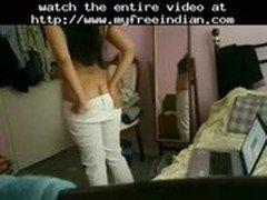 Sexy Desi University Student Stripping Off Naked  indian desi indian cumshots arab