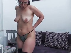 Wife's pussy fucked hard in doggy style