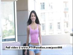 Pleasant Stunning woman gets naked in public