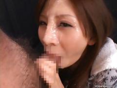 Rino Tomoa Naughty Asian doll enjoys loads of sticky cum