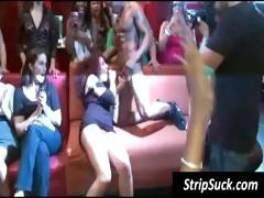 Wild girl's party with this stripper getting his cock blown